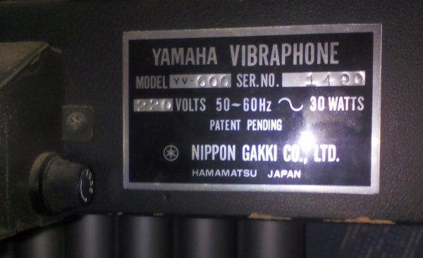 Yamaxa Vibraphone YV600B 1 Yamaxa Vibraphone YV600B 1
